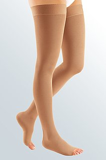 open compression stockings for women