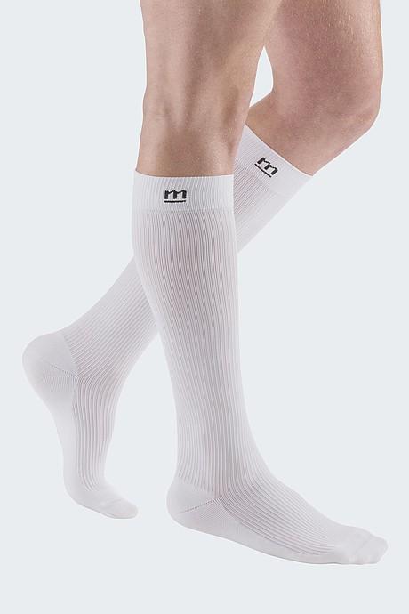 sporty compression stocking for men white