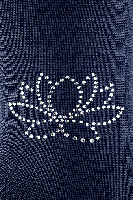 Swarovski Crystals on Flat Knit stockings water lily